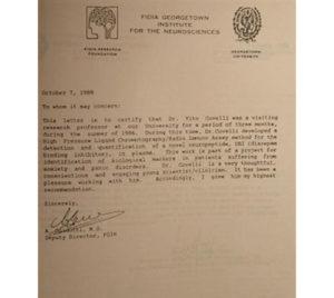 vito covelli attestato fidia georgetown institute for the neurosciences