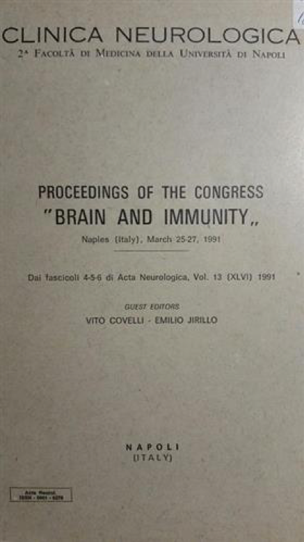 vito covelli pubblicazioni proceedings of the congress brain and immunity